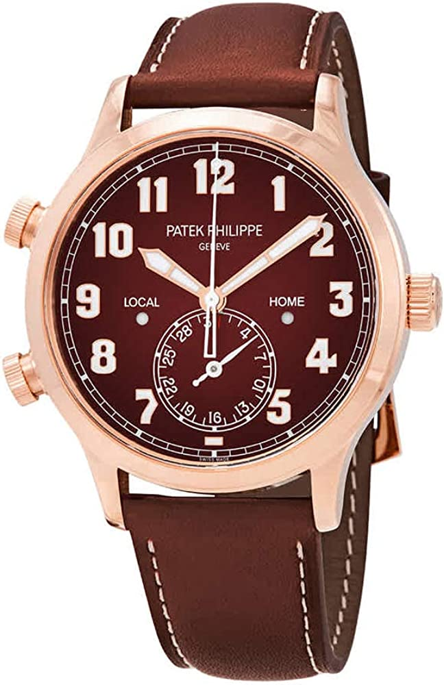 Patek Philippe Calatrava Pilot Travel Time 18kt Rose Gold Automatic Men's Watch 5524R-001