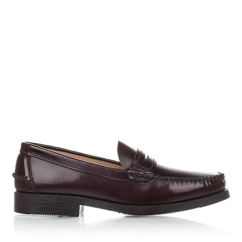 Mocasines de Hombre Burdeos Castellanisimos de Piel - Color - BURDEOS, Tallas - 45: Amazon.es: Zapatos y complementos