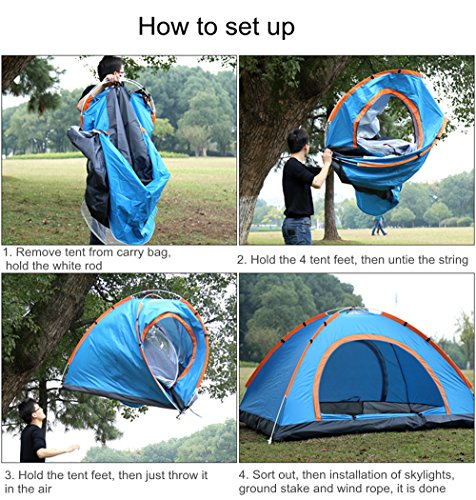 Amazon.com  Allnice Outdoor Automatic Pop up Tent Instant Setup Lightweight Portable 2 Person Tent C&ing Traveling Picnic UV Protection Sunshade Shelter ... & Amazon.com : Allnice Outdoor Automatic Pop up Tent Instant Setup ...