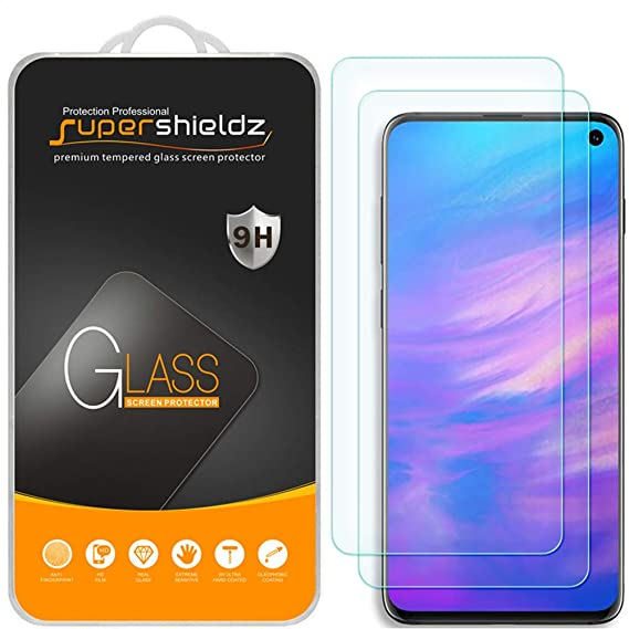 [2-Pack] Supershieldz for Samsung (Galaxy S10e) Tempered Glass Screen  Protector, Anti-Scratch, Bubble Free, Lifetime Replacement [Not Fit for  Galaxy