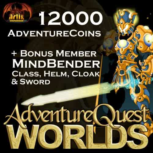 12,000 AdventureCoins Package: AdventureQuest Worlds [Instant Access]