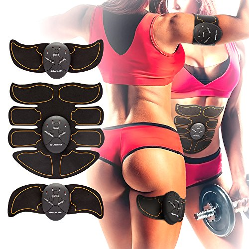 Lana S.E.A ABS STIMULATOR & Muscle Toner Abdominal Toning Ab Belt Fit for Abdomen/Arm/Leg/Waist Exercises Electrical Muscle Stimulation MEN&WOMAN at Home Office Gymnasium or (Lose Abdominal Fat)