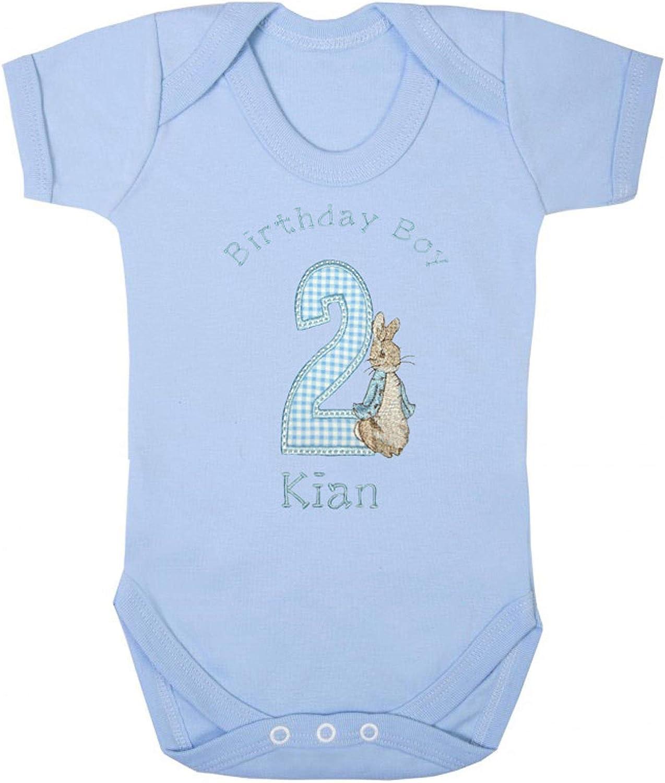 Boys Peter Rabbit Personalised 2nd Birthday Vests Cake Smash
