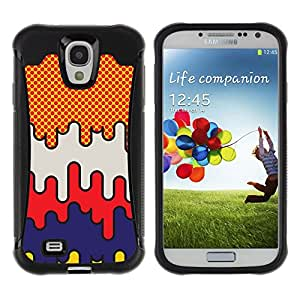 Be-Star único patrón Impacto Shock - Absorción y Anti-Arañazos Funda Carcasa Case Bumper Para SAMSUNG Galaxy S4 IV / i9500 / i9515 / i9505G / SGH-i337 ( Pop Art Comic Raster Art Pattern City )