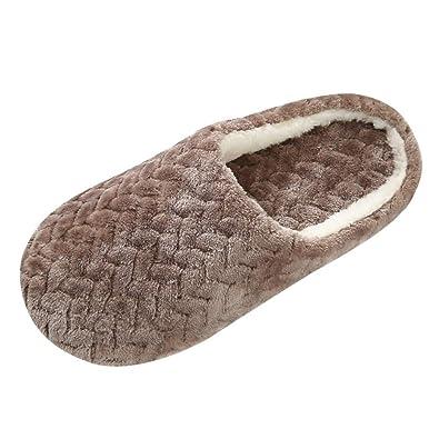 stile di moda di buona qualità piuttosto fico Topgrowth Pantofole Donna Ciabatte Peluche Invernali Antiscivolo ...