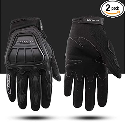 Real Leather Motorbike Gloves Protective Shell Short version