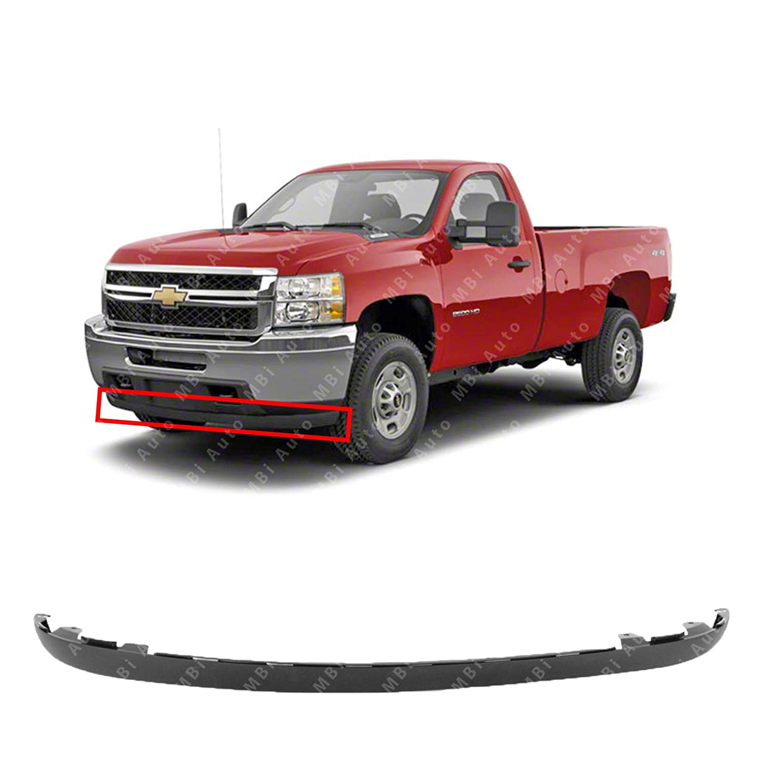 MBI AUTO - Textured, Front Lower Valance Air Deflector for 2011 2012 2013 Chevy Silverado 2500 3500 11 12 13, GM1095195