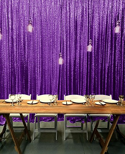 ShinyBeauty 20FTx10FT-Purple-Sequin Backdrop, For Party or Wedding Sequin Photo Booth Backdrop,Wedding Backdrop, Photo Backdrop,Glitz Backdrop,Sequin Curtains (Purple)