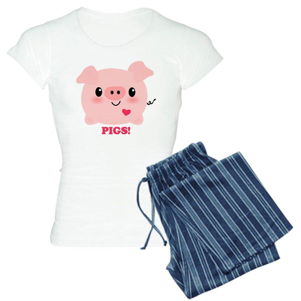 CafePress - Kawaii I Love Pigs - Womens Pajama Set