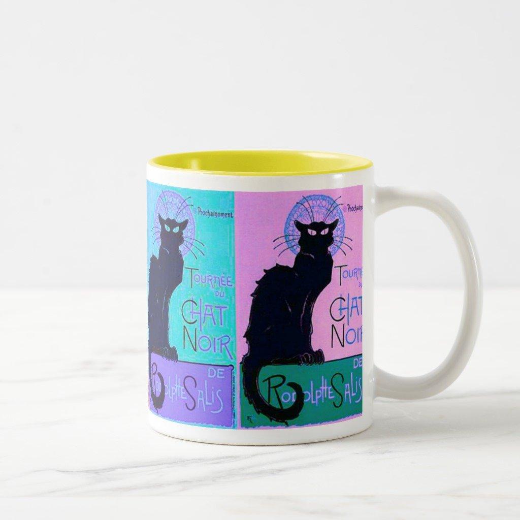 ZazzleチャットNoir (ブラック猫) Travel Mug 11 oz, Two-Tone Mug イエロー ff8b73cc-5086-4288-2365-b1da796de877 B0787RTPWV 11 oz, Two-Tone Mug|イエロー イエロー 11 oz, Two-Tone Mug