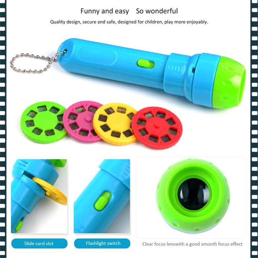 for Toys Gift Without Battery AKDSteel Kids Mini Projector Torch Educational Light-up Toy for Stories Telling