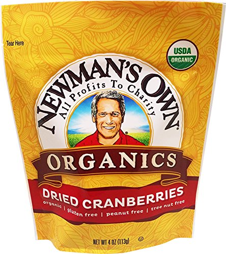 Newman's Own Organics Cranberries, 4-Ounce Pouches (Pack of 6)