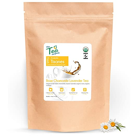 Organic Rose Chamomile Lavender Herbal Tea The Tea Company 4 oz
