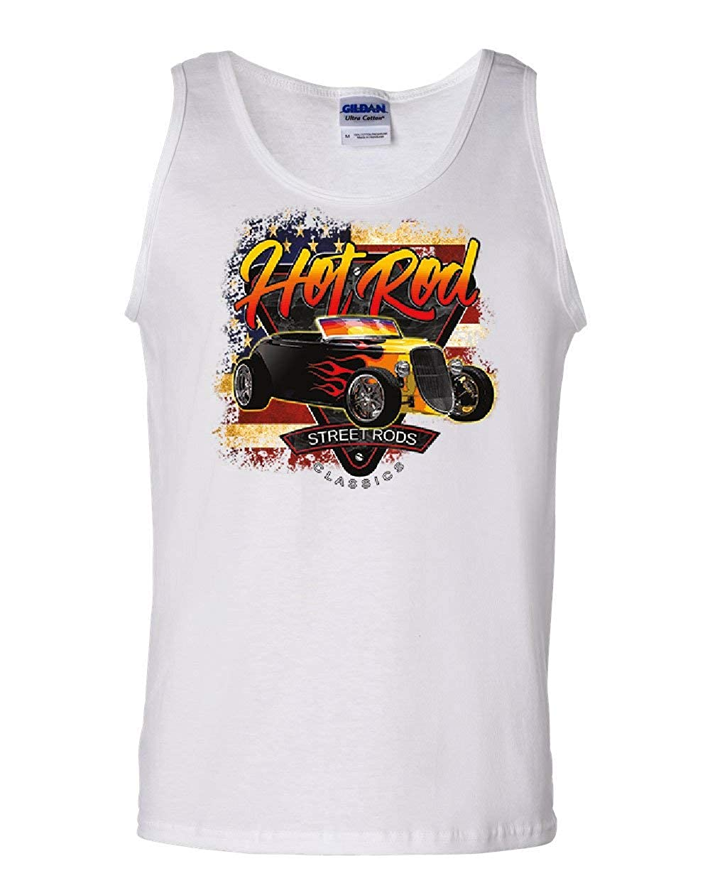 1933 Roadster Hot Rod American Flag Tank Top Street Rods Classics Sleeveless