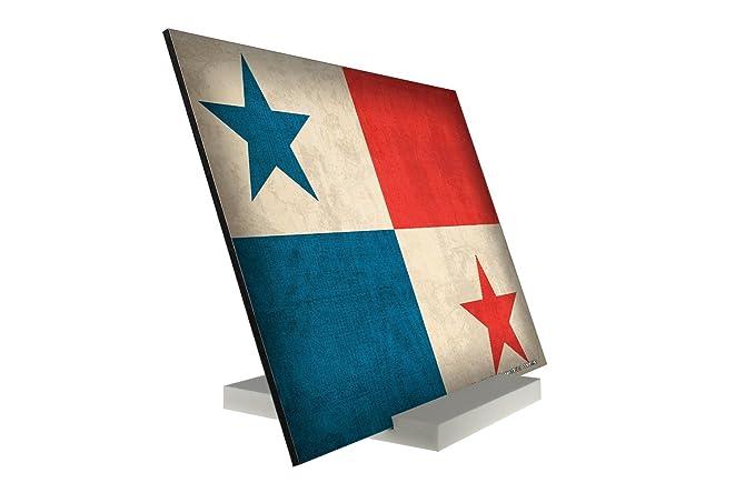 Soporte Fotografias Aventurero bandera de Panamá Letrero Decoración: Amazon.es: Hogar