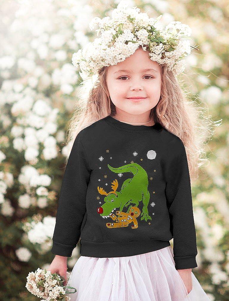 T-Rex Biting Gingerbread Funny Ugly Christmas Toddler//Kids Sweatshirts