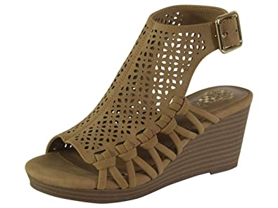 24edecc8b8 Amazon.com | Vince Camuto Little/Big Girl's Obal Wedge Sandals Shoes ...