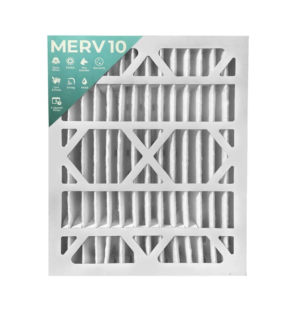 16x20x4 MERV 10 AC 炉エアフィルター 2箱入り。 (実際のサイズ:15-1/2インチ x 19-1/2インチ x 3-3/4インチ)。   B07H3ZDTTV