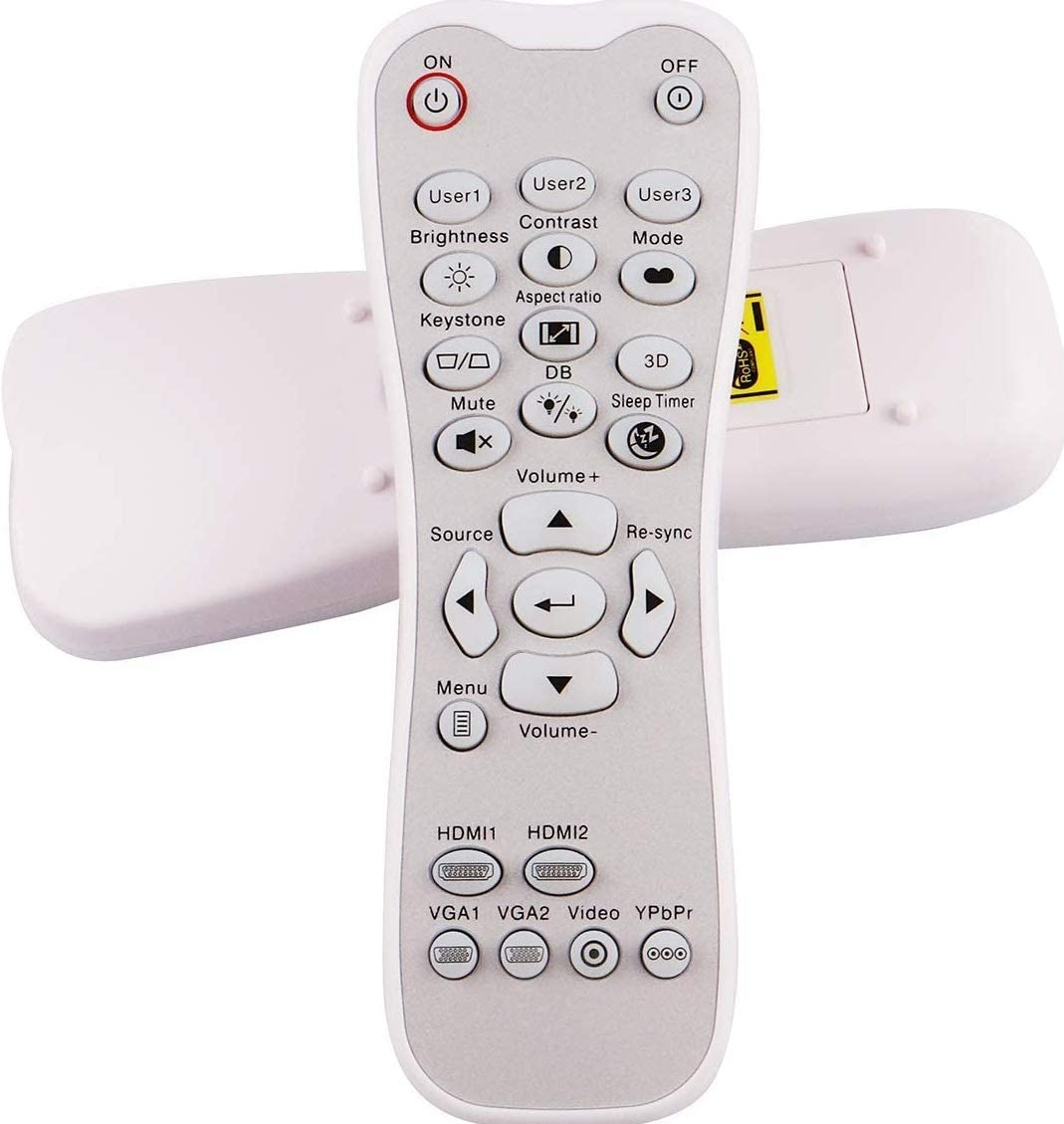 World of Remote Controls General Universal Compatible Replacement Projector Remote Control Fit for Optoma Projector HD26 GT1080 GT1070X HD141X DH1008 HD37 HDF536 HDF537ST HD200D EH200ST 18 months Warr