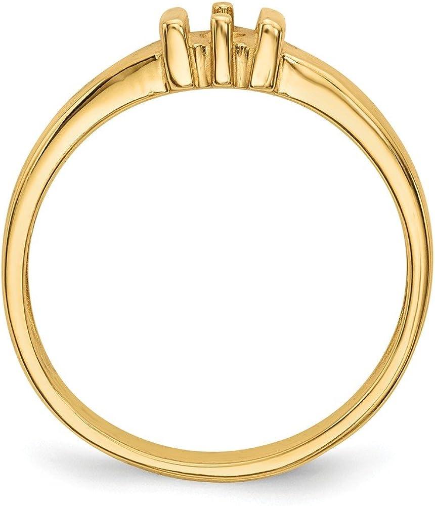 Family Celebration Mountings 14k Polished 1-Stone Mothers Ring Mounting Size 10