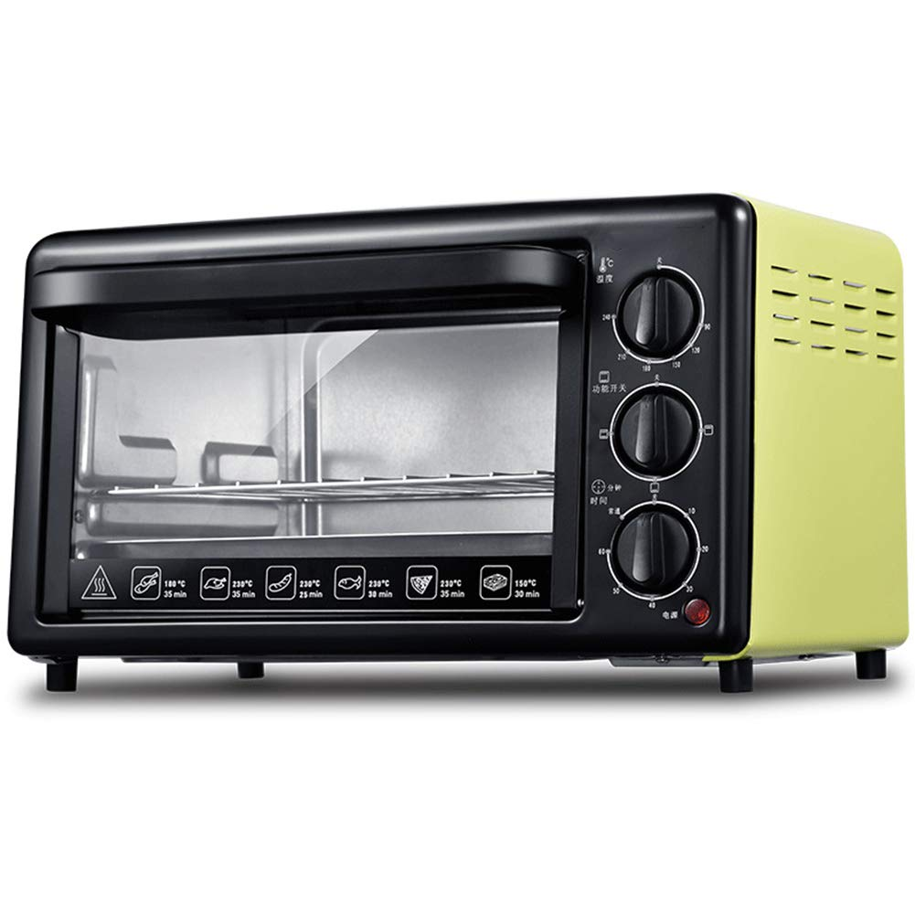 Toaster Oven STBD- 19L, Small Multi-Function Countertop, 1200w Power, Blue Stainless Steel Tube Heating, Baking, Baking and Holding, Red Yellow by Toaster Oven
