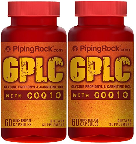 GPLC GlycoCarn Propionyl-L-Carnitine HCl with CoQ10 2 Bottles x 60 Capsules