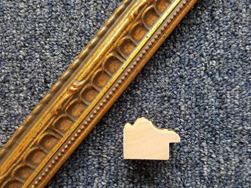 18' Imported Dark Gold Leaf Ornate Multi Color Solid Wood Picture Frame Moulding -