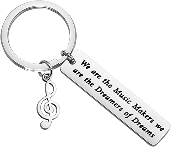 TIIMG Musician Gift Music Student Gift Music Teacher Gift We are The Music Makers We are The Dreamers of Dreams Musical Actor Actress Gift