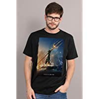 Camiseta Aquaman Golden Trident Oficial Masculina