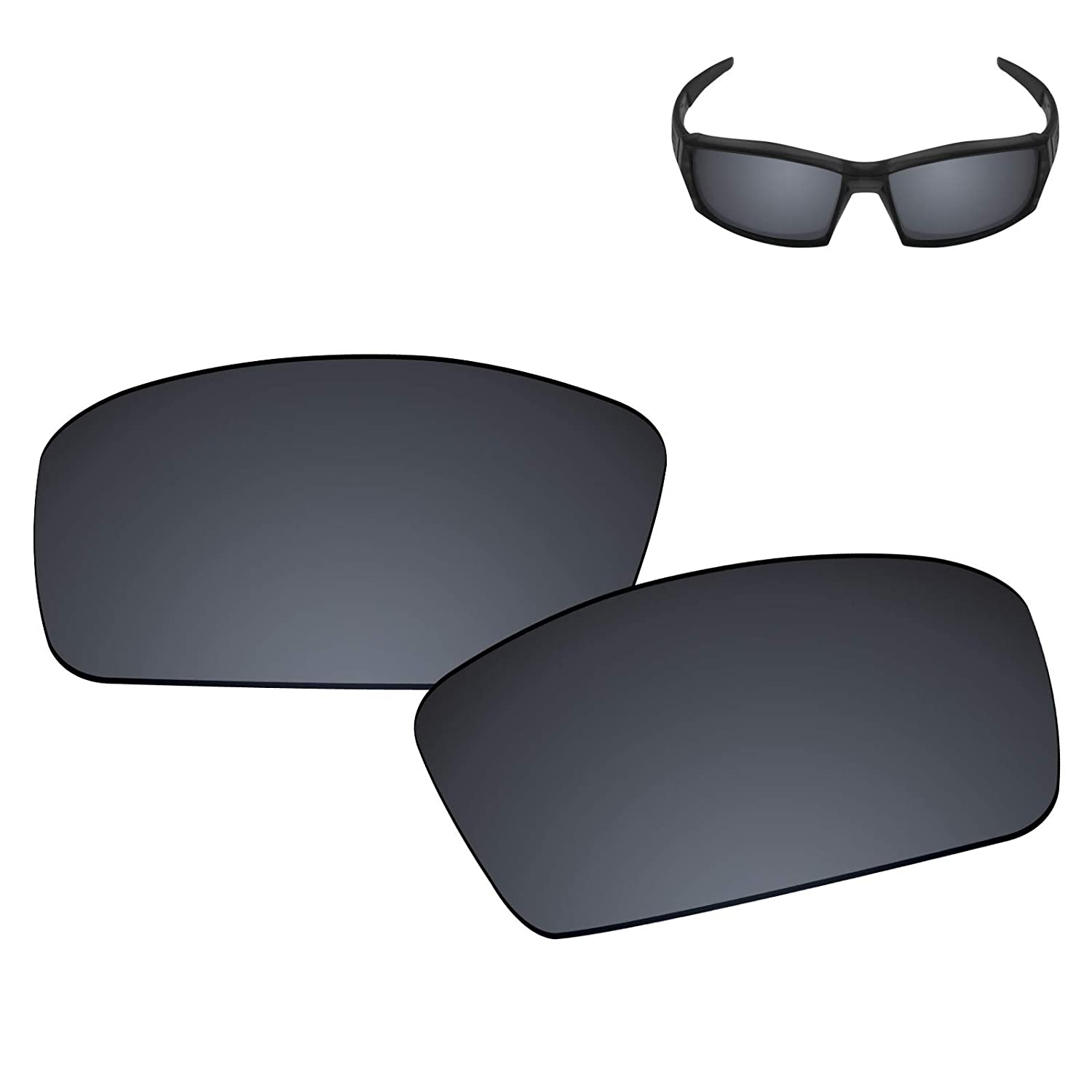 d23b0932cd Amazon.com  Galvanic Replacement Lenses for Oakley Canteen 2006 Sunglasses  - Amber + Black Polarized - Combo Pack  Clothing