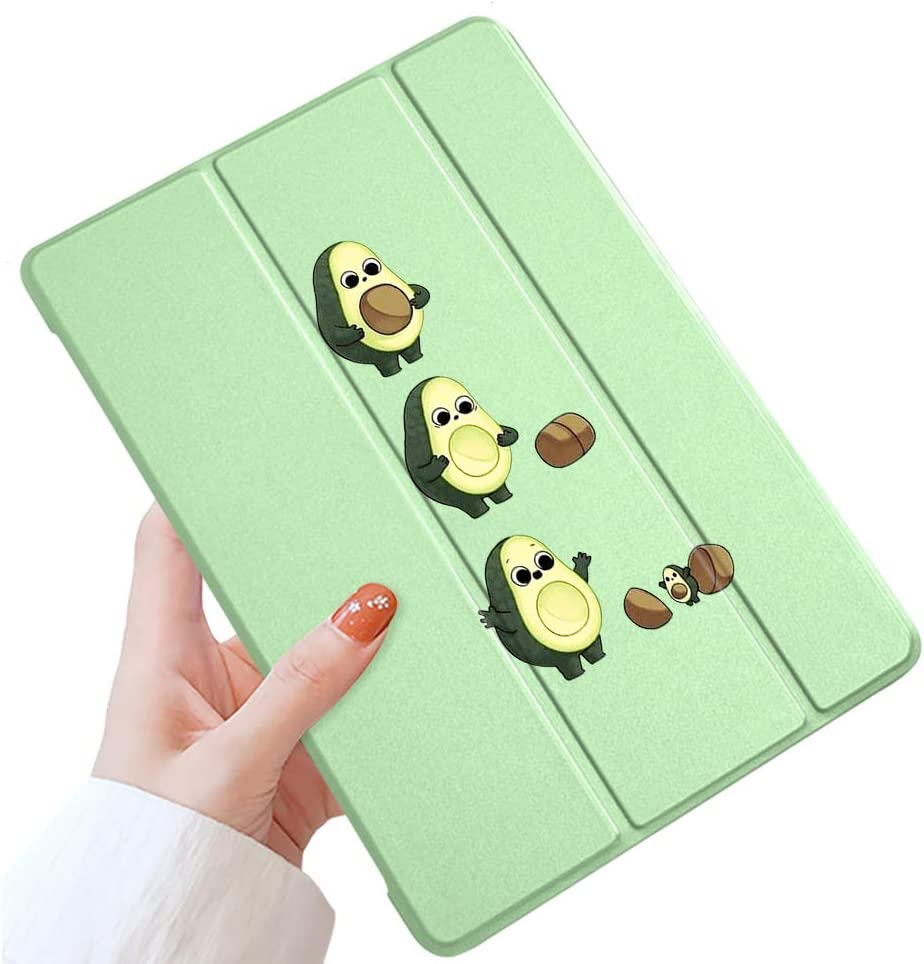 LuGeKe Avocado Case for iPad 9.7 inch 2016 iPad Pro,Avocado Patterned iPad Case Cover,Lightweight Slim Standing iPad Pro Cover for Girls Boys,Avocado