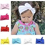 Niña de diademas, Flyfish 8-Pack assorted-color bebé niñas niños conejo lazo nudo turbante Diadema Diadema Headwrap Headwear para fotografía Props, disfraz, fiesta