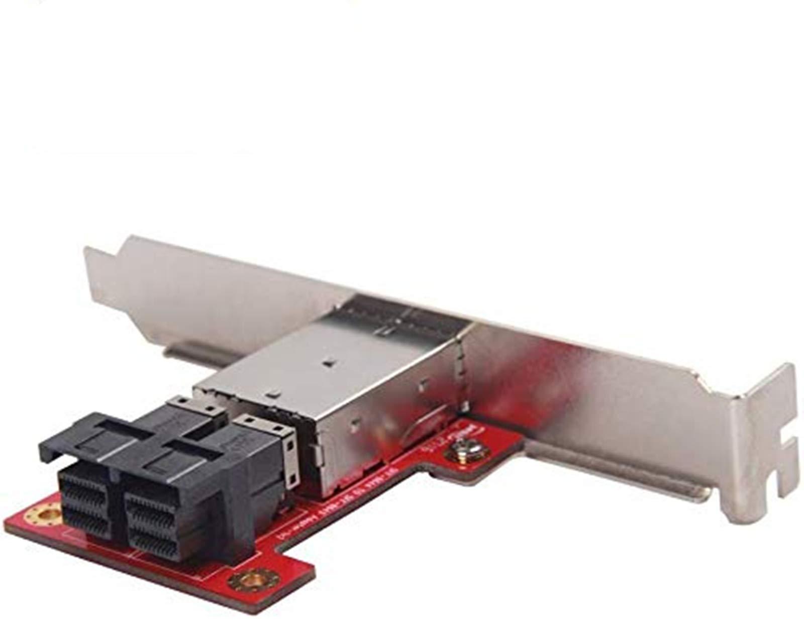 10Gtek Mini SAS Adapter SFF-8643 a SFF-8644 Dual Port Mini S