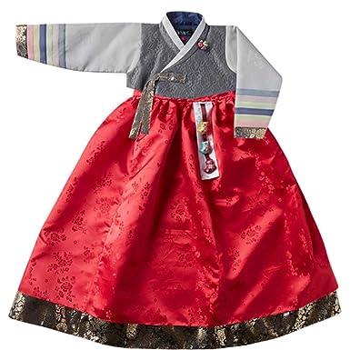 362f5886b Amazon.com: Korean Beautiful Traditional Clothing Hanbok Dress Baby Girl  Clothes Birthday New Year Party Doo-Hee: Clothing