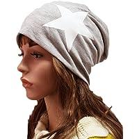 Thenice Mujer Beanie Hat Gorro Estrella Hip-Hop Cap