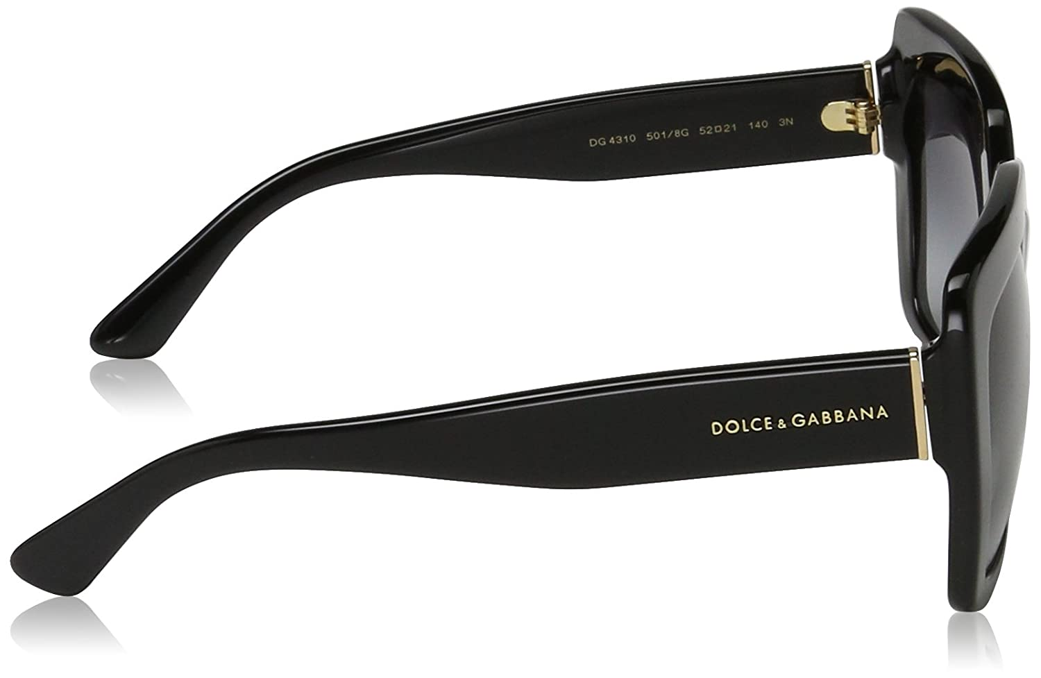 Amazon.com: Dolce & Gabbana Unisex 0DG4310 Black/Grey ...