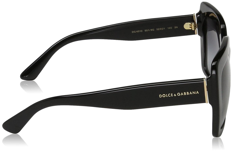 Amazon.com: Dolce & Gabbana Unisex 0DG4310 Black/Grey ...