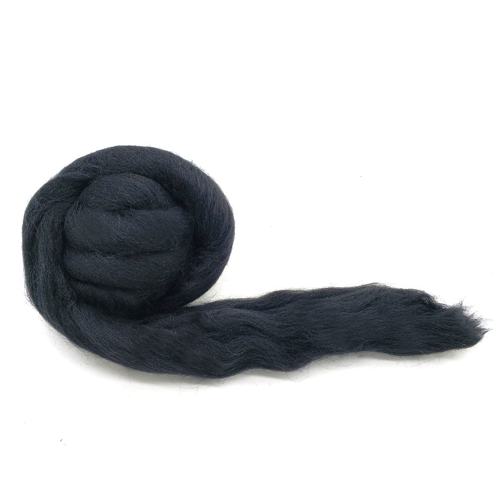 Artec360 Needle Felting Wool Roving 3.5 Ounce Merino 70s Grade Super Soft Wholesale Wool Top Roving Fiber for Happy Felter 1