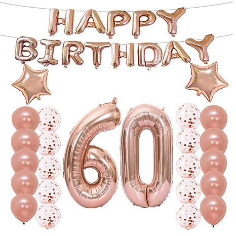 Amazon.com: 60 cumpleaños decoraciones suministros de fiesta ...