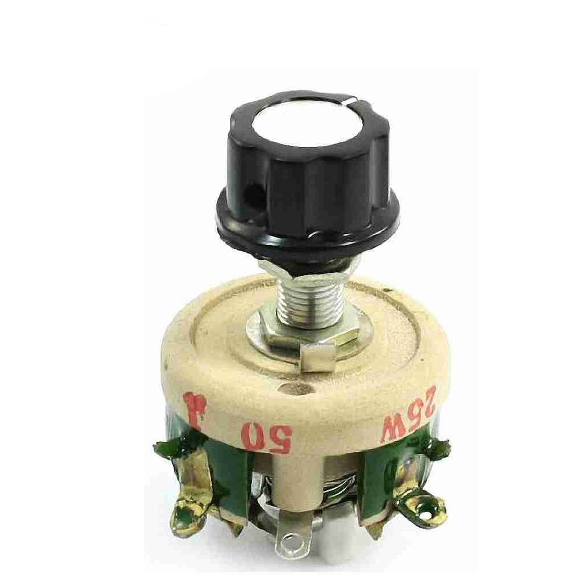 YXQ 25W 50 Ohm Resistor Rheostat Porcelain Plate Sliding Resistors