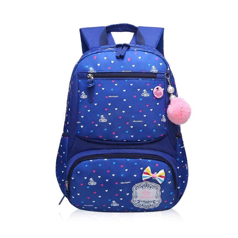 Dark bluee Trumpet Printed Schoolbags for Kindergarten Pupils,Purple Trumpet