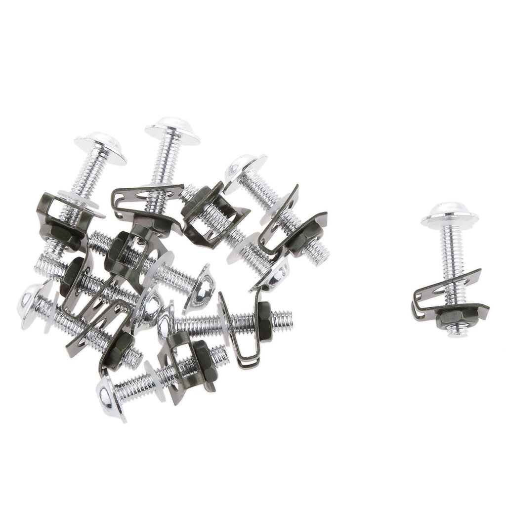 D DOLITY 20X CNC Motorcycle Hardware Fairing Bolts Screws Fastener Clips Mounting Kit