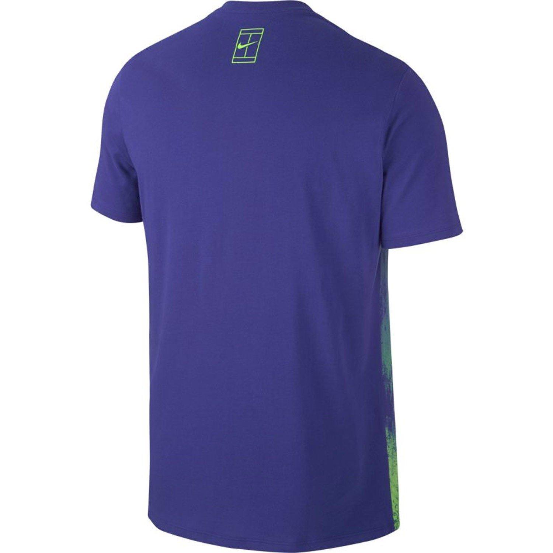 Nike M Nkct tee Camiseta Línea Rafa Nadal, Hombre, Azul (Deep Night/Ghost Green), M: Amazon.es: Deportes y aire libre