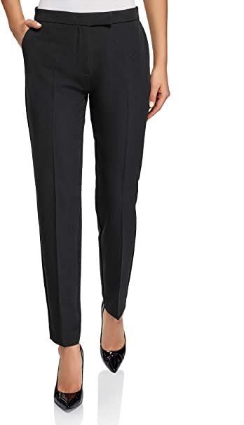 oodji Collection Women's Classic Slim Fit Trousers