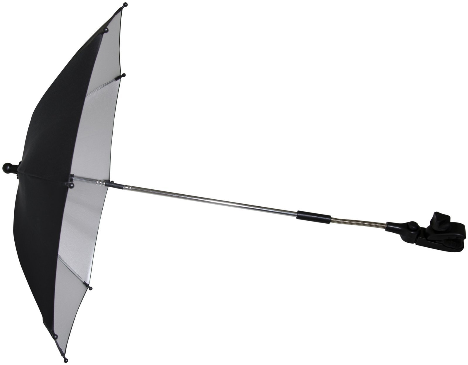 Mountain Buggy Parasol Umbrella for Strollers, Car Seats, High Chairs and More, Black