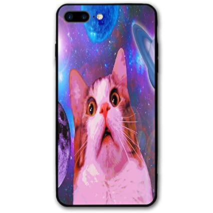 Hipster Cat In Space Wallpaper IPhone 8 Plus Case Full Body Protection Apple Only 55