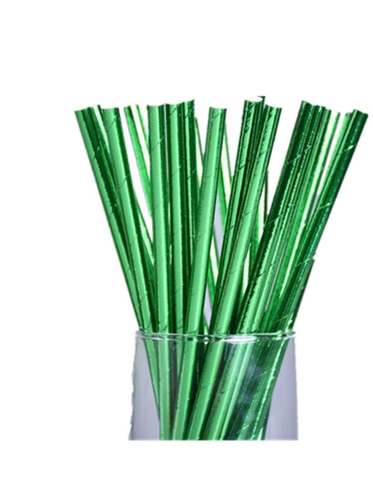 Skyeye 25 Stü ck Einweg Stroh Strohhalm Papier Stroh Tee-kaltes Geträ nk-Stroh DIY-Stroh