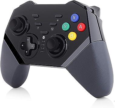 Elyco Mando para Nintendo Switch Apoya Vibración, Bluetooth Remote Wireless Pro Controller Gamepad Joypad Que admite la función Turbo función Gyro Axis y Dual Shock: Amazon.es: Electrónica