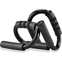 COVVY Push Up Bars - S Shape Home Fitness Workout Push-Up Stand Bars with Soft Cushioned Foam Grip, Non-Slip Body…