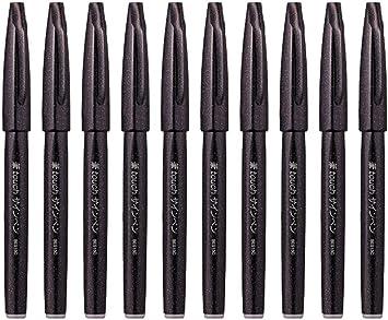 Nero Set di 4 Pentel Arts Brush Sign Pen SES15C Pennarello a pennello